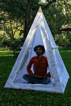 Load image into Gallery viewer, Deluxe Nubian Copper Framed Meditation Pyramid 4 Feet Base Lite duty Tent Unit
