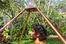 Load image into Gallery viewer, Deluxe Copper Giza heavy wight 8 feet Meditation Pyramid for Self Healing and Hear chikra activation