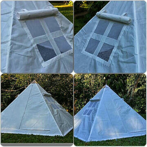 Copper Giza Lite Duty 8 feet Meditation Pyramid for Self Healing with tent