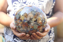Charger l'image dans la galerie, Seven Chakra Orgonite Sphere Ball 140 mm/ 5.50 inch for Self Healing