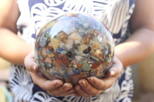 Seven Chakra Orgonite Sphere Ball 140 mm/ 5.50 inch for Self Healing