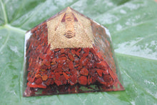 Charger l'image dans la galerie, ORGONE/ ORONITE Red jasper Gemstone Crystals pyramid 3 inches