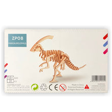 Load image into Gallery viewer, Parasaurolophus 3D Wood Puzzle Kit - DIY