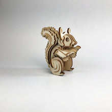 Load image into Gallery viewer, Squirrel 3D Wood Puzzle Kit - DIY