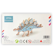 Load image into Gallery viewer, Stegosaurus 3D Wood Puzzle Kit - DIY