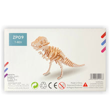 Load image into Gallery viewer, T-Rex 3D Wood Puzzle Kit - DIY
