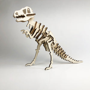 T-Rex 3D Wood Puzzle Kit - DIY