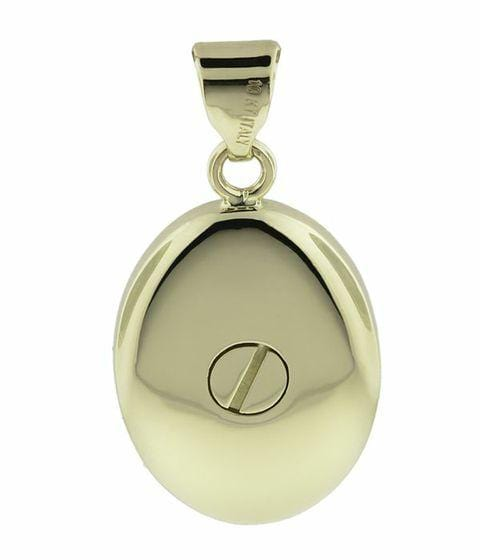 Cara Keepsakes Gold Locket Urns Gold Oval Pendant Urn (10K)