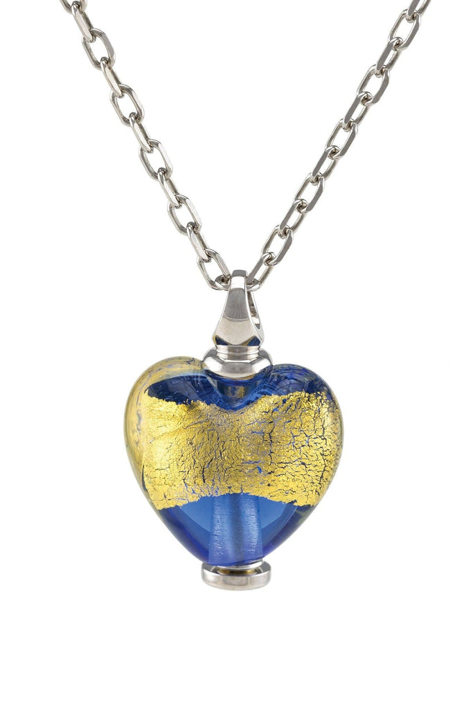 Cara Keepsakes Murano Glass Heart Urn - 'Wrapped in Glory'