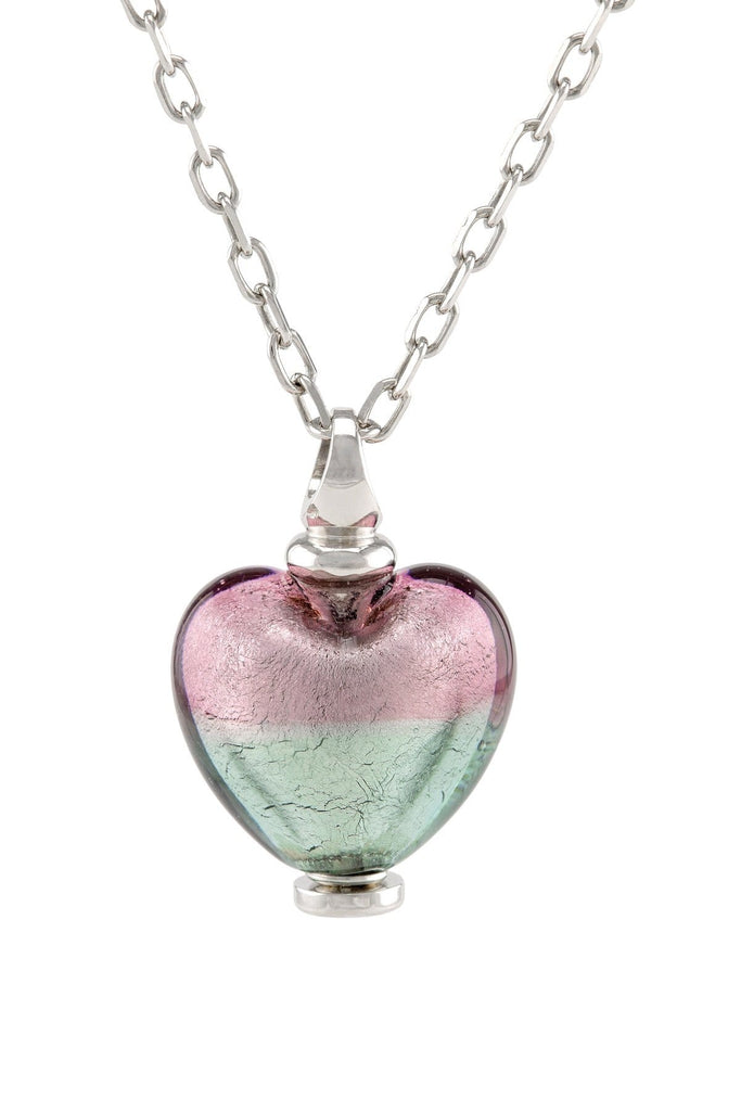 Cara Keepsakes Murano Glass Heart Urn - 'Enchanted Bliss'