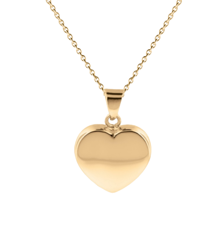 Cara Keepsakes Gold Locket Urns Gold Heart Pendant Urn (10K)