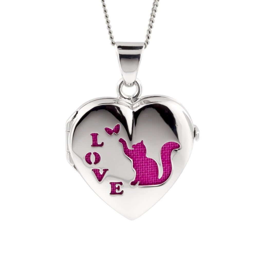 Cara Keepsakes Silver Locket Urns Cat Locket Urn