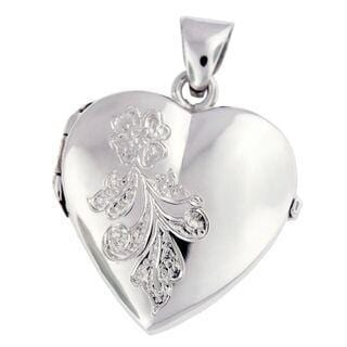 Cara Keepsakes Silver Locket Urns 'Forget Me Not' Locket Urn product close up