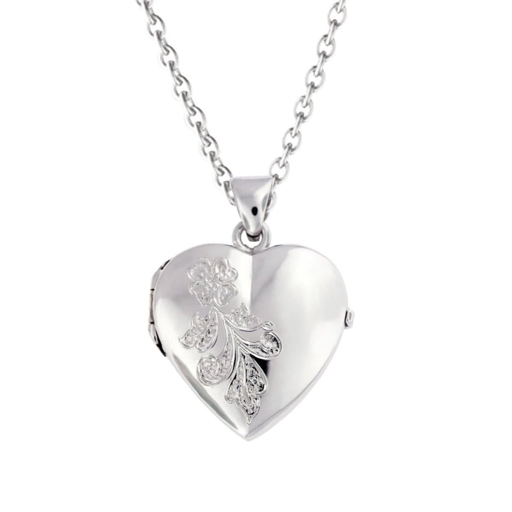 Cara Keepsakes Silver Locket Urns 'Forget Me Not' Locket Urn