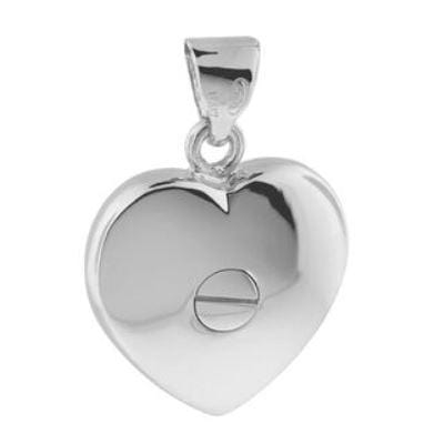 Cara Keepsakes Silver Locket Urns 'Forget Me Not' Locket Urn back view