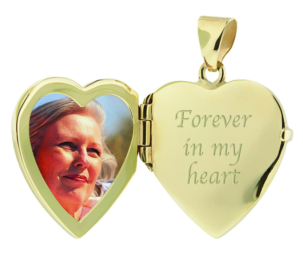 Cara Keepsakes Gold Locket Urns Gold Filigree Heart Locket Urn open locket view