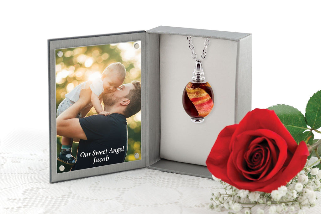 Cara Keepsakes Murano Glass Pendant Urns Murano Glass Pendant Urn - 'Beyond the Sunset'