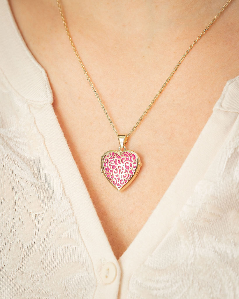 Cara Keepsakes Gold Locket Urns Gold Filigree Heart Locket Urn