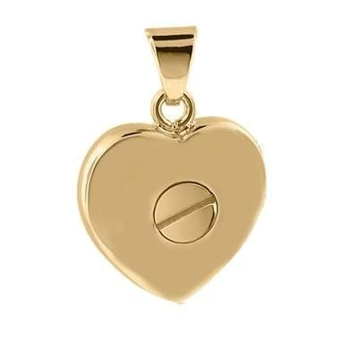 Cara Keepsakes Gold Locket Urns Gold Heart Pendant Urn