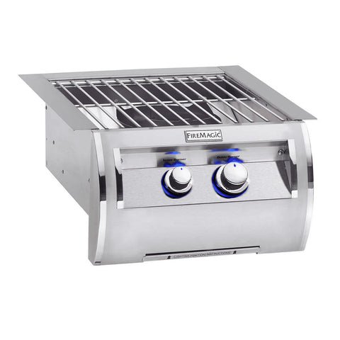Fire Magic Echelon Diamond Natural Gas Built-In Power Burner w/ Stainless Steel Cooking Grid and Lid - 19-5B1N-0