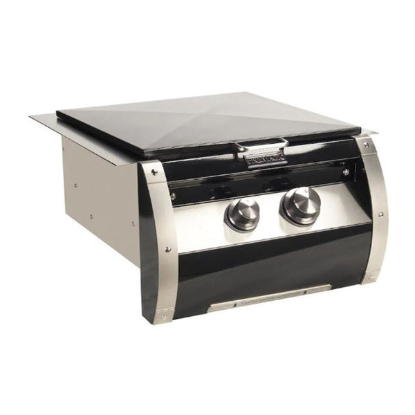 Fire Magic Echelon Black Diamond Propane Gas Built-In Power Burner w/ Stainless Steel Cooking Grid and Black Steel Hinged Lid - 19-H5B1P-0