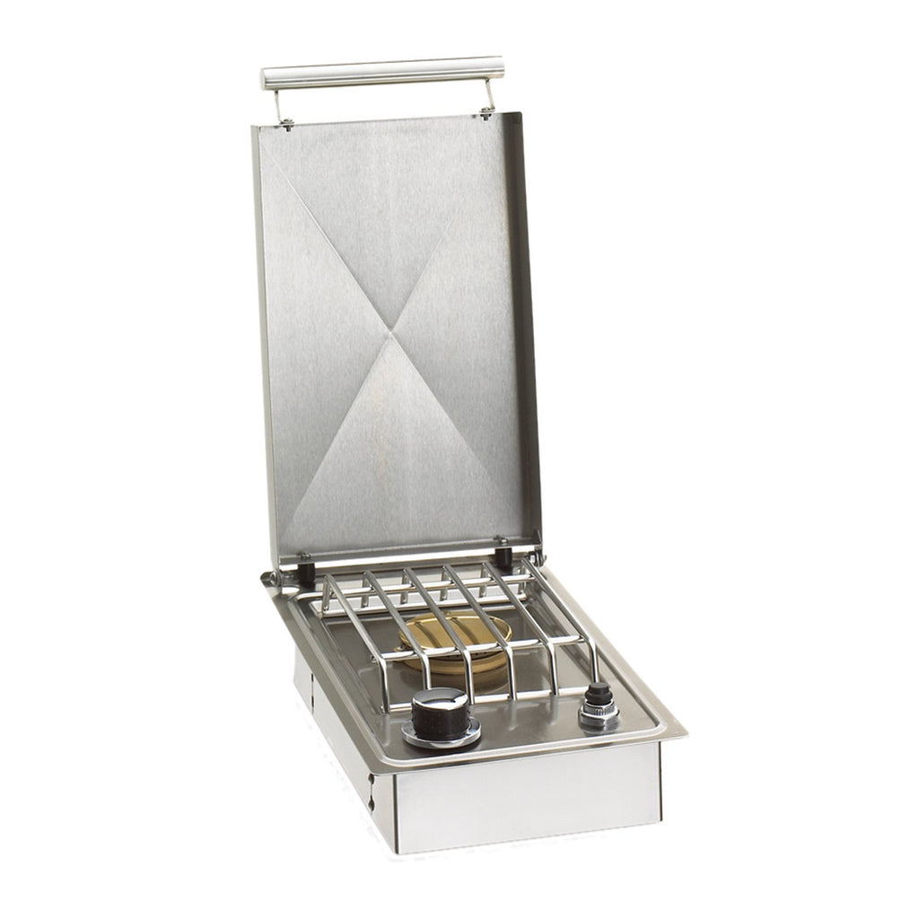 Fire Magic Propane Gas Drop-In Single Side Burner w/ Stainless Steel Hinged Lid - 3280P