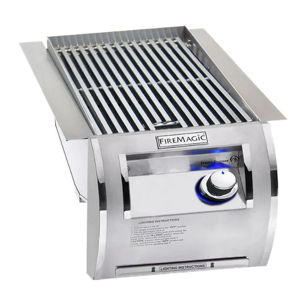 Fire Magic Echelon Diamond Propane Gas Built-In Single Infrared Searing Station w/ Stainless Steel Lid - 32875-1P
