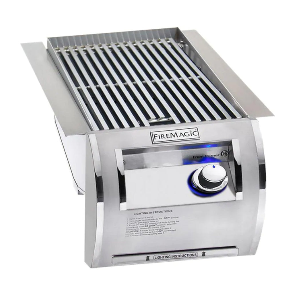 Fire Magic Echelon Diamond Natural Gas Built-In Single Infrared Searing Station w/ Stainless Steel Lid - 32875-1