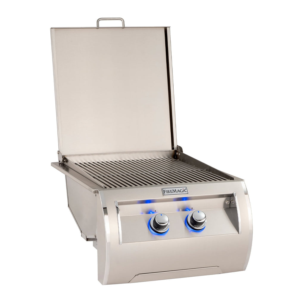 Fire Magic Echelon Natural Gas Built-In Double Infrared Searing Station w/ Stainless Steel Hinged Lid - 32885-1