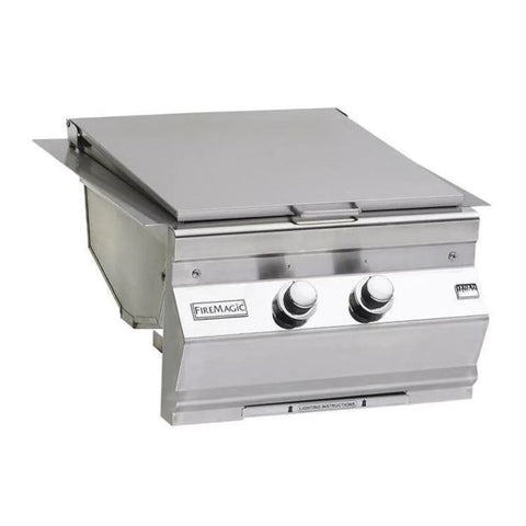 Fire Magic Classic Propane Gas Built-In Double Infrared Searing Station w/ Stainless Steel Hinged Lid - 3288K-1P