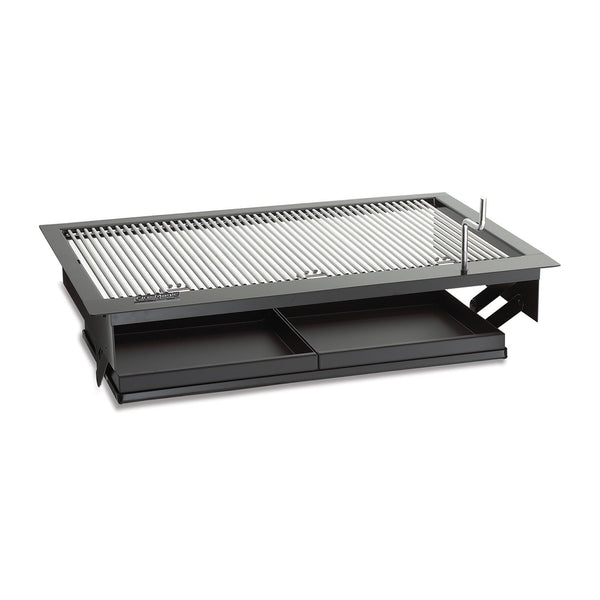 Fire Magic Firemaster 23-Inch Drop-In Charcoal Grill w/ Adjustable Charcoal Pan and Black Finish (Cooking Grates Not Included) - 3329