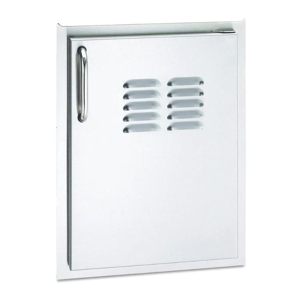 Fire Magic Select 14-Inch Single Access Door w/ Tank Tray & Louvers (Left Hinge) - 33820-TSR