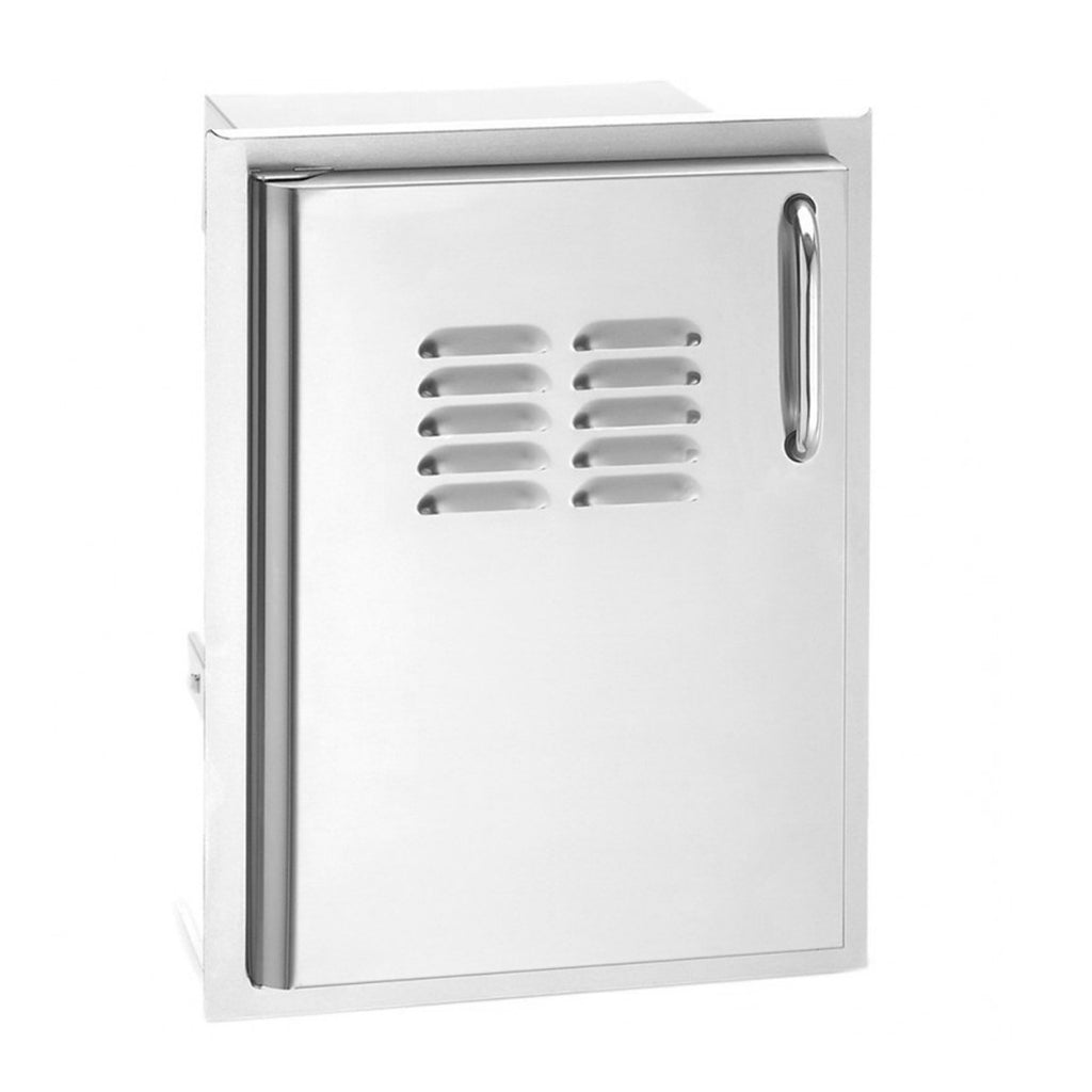 Fire Magic Select 14-Inch Single Access Door w/ Louvers (Left Hinge) - 33920-1-SL