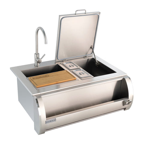 Fire Magic Built-In Beverage Butler w/ Hot & Cold Faucet and Removable Cutting Board - 3835