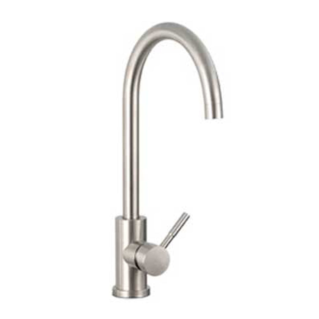Fire Magic Outdoor Stainless Steel Hot and Cold Water Mixer Faucet w/ Single Handle - 3836