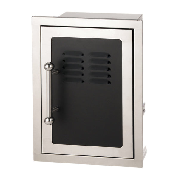 Fire Magic Black Diamond Door w/ Tank Tray & Louvers (Soft Close, Right Hinge) - 53820HSC-TR