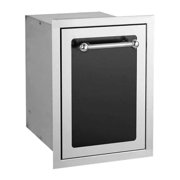 Fire Magic Black Diamond 14-Inch Trash Cabinet (Soft Close) - 53820HTSC