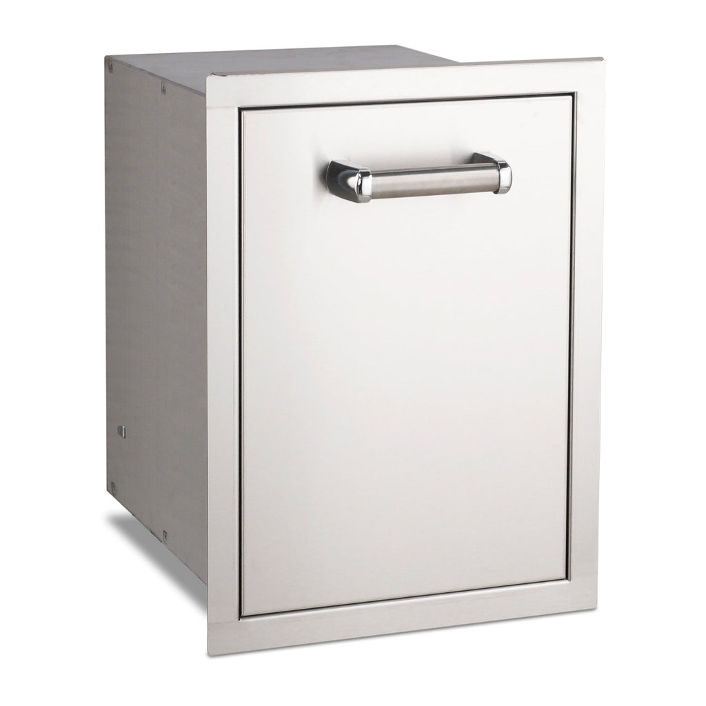Fire Magic Premium Flush 14-Inch Stainless Steel Trash Cabinet (Soft Close) - 53820TSC