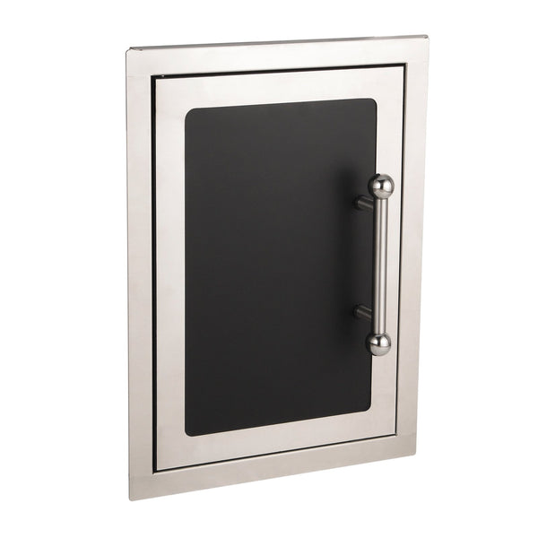 Fire Magic Black Diamond 14-Inch Single Access Door (Soft Close, Left Hinge) - 53920HSC-L