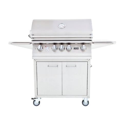 Lion L75000 32-Inch Natural Gas Freestanding Grill w/ Rotisserie - 75623 & 53621