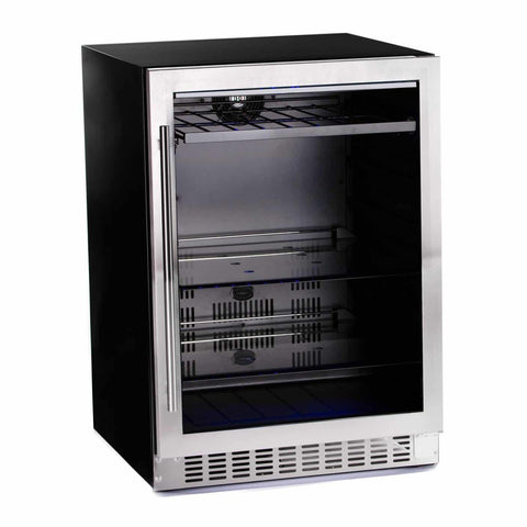 Azure 24-Inch Beverage Center w/ Stainless Steel Trim Glass Door - A224BEV-S
