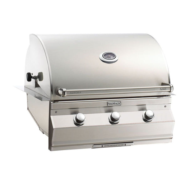 Fire Magic Aurora A660i 30-Inch Natural Gas Built-In Grill w/ Analog Thermometer - A660I-7EAN