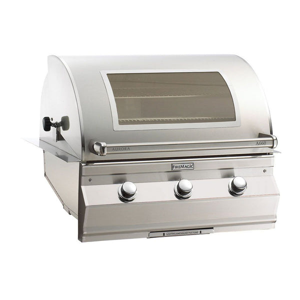 Fire Magic Aurora A660i 30-Inch Natural Gas Built-In Grill w/ Magic View Window and Analog Thermometer - A660I-7EAN-W