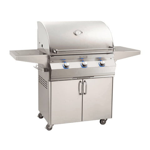 Fire Magic Aurora A660s 30-Inch Propane Gas Freestanding Grill w/ Flush Mounted Single Side Burner, 1 Sear Burner and Analog Thermometer - A660S-7LAP-62