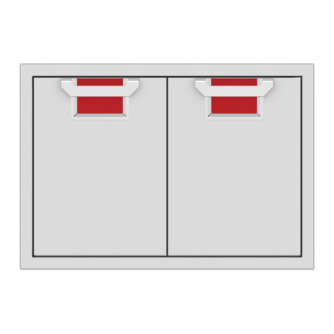 Aspire by Hestan 30-Inch Double Access Doors (Matador Red) - AEAD30-RD