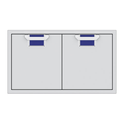 Aspire by Hestan 36-Inch Double Access Doors (Prince Blue) - AEAD36-BU