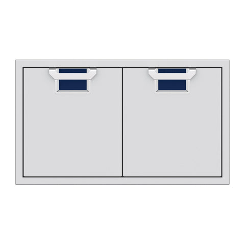 Aspire by Hestan 36-Inch Double Access Doors (Orion Dark Blue) - AEAD36-DB