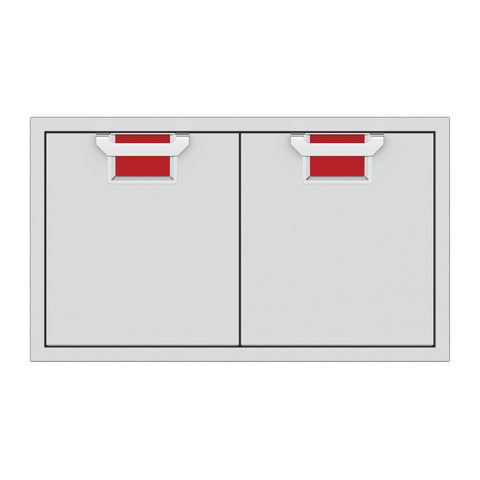 Aspire by Hestan 36-Inch Double Access Doors (Matador Red) - AEAD36-RD