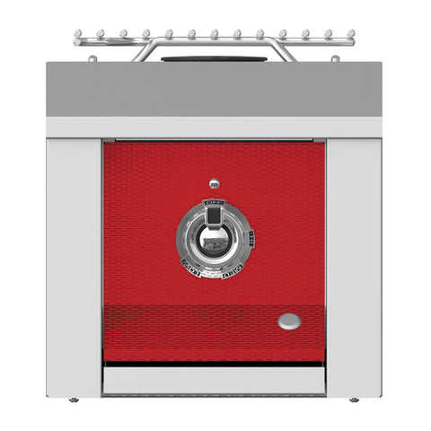 Aspire by Hestan 12-Inch Propane Gas Built-In Single Side Burner (Matador Red) - AEB121-LP-RD