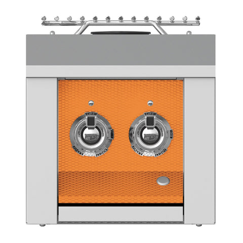 Aspire by Hestan 12-Inch Natural Gas Built-In Double Side Burner (Citra Orange) - AEB122-NG-OR